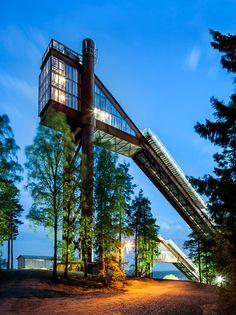 Sweco Architects modernises Swedish ski jumps ahead of 2015 world championships.
