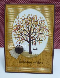HAPPY HEART CARDS: STAMPIN' UP!'S SHELTERING TREE - MASCULINE BIRTHDAY