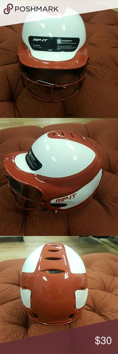 Helmet Fit Helmet for use in All Leagues,the color is like red brown RIP-IT Other