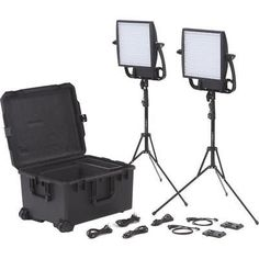 Litepanels Astra 1x1 Bi-Color LED 2-light Traveler Duo V-Mount Kit #935-3001