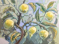 Lemon Tree – oil on canvas – x The Quiet Miracle, Michael Krief Gallery, Solana Beach, California – 12 June to 3 July 2019 – Lizza Littlewort Old Paintings, Paintings I Love, Family Tree Art, Tree Tops, Oil On Canvas, Lemon, African, Gallery, Solana Beach
