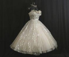 Vintage 1950's 50s STRAPLESS Bombshell White by VintageVortex, $499.99