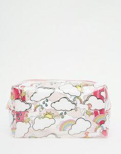 Unicorn & Rainbow Print Makeup Bag