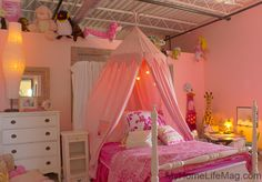 Perfect little girl's #bedroom! #pink