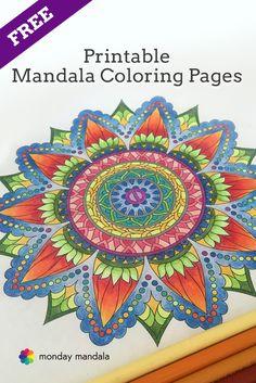 Free Printable Mandala Coloring Pages - download, print, and share! from mondaymandala.com #mandalas #print