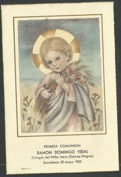 Estampa antigua del Niño Jesus andachtsbild santino holy card santini   eBay