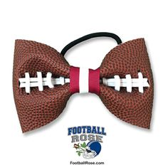 Handmade Football Hair Bow made from real football leather with Maroon & White ribbon accents Football Hair Bows, Football Stuff, White Hair Bows, White Ribbon, Ribbon Art, Ribbon Colors, Panther Football, Different Font Styles, Diy Leather Earrings
