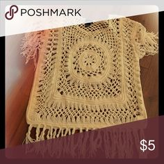 Cream colored shirt Crochet woven style Rue 21 Tops Blouses