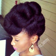 Tuck n Roll Natural Hair Updo natural hair with style #naturalhairstyle #naturalhair