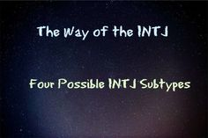 The Way of the INTJ: Four Possible INTJ Subtypes
