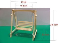 Doll Furniture 1 6 Scale Swing Unpainted for Barbie Blythe JerryBerry Momoko for sale online Popsicle Stick Crafts House, Craft Stick Crafts, Miniature Furniture, Dollhouse Furniture, Diy Dollhouse, Dollhouse Miniatures, Doll Bunk Beds, Sticks Furniture, Diy Crafts Hacks