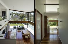 Double height living space, by Tim Stewart Architects