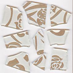 Glasmosaik & Bastelmosaik -Retro Mosaik - weiss / silber - 100g