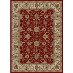 Concord Global Florence Red Rectangular Indoor Woven Oriental Area Rug (Common: 7 X 10; Actual: 6.58-Ft W X 9.5-Ft L X 6