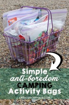 "These anti-boredom activity bags are great for camping, or even curing a case of ""There's nothing to do"" on a summer afternoon in July."