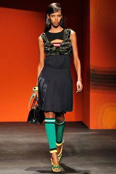 Prada Spring 2014 Ready-to-Wear Fashion Show - Grace Mahary