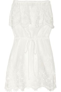 Miguelina|Dylan crocheted cotton-lace dress|NET-A-PORTER.COM