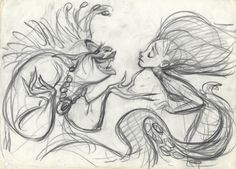 'The Little Mermaid' concept art (Disney)