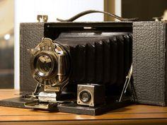 Vintage photography Kodak folding camera Staging Industrial decor Collectible camera Man cave Props Folding  camera Pocket camera