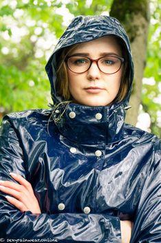 Vinyl Raincoat, Pvc Raincoat, Plastic Raincoat, Shiny Happy People, Green Raincoat, Country Wear, Hooded Cloak, Rain Suit, Pvc Coat
