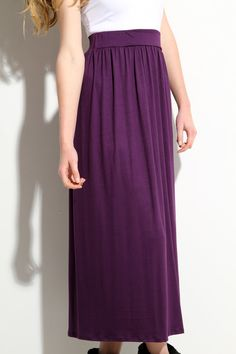Adorable skirt from lamixx (Etsy) that can be maxi skirt or a dress! Purple Maxi, Purple Skirt, Purple Fabric, Long Maxi Skirts, Style Challenge, Style Guides, Style Inspiration, Stylish, Model