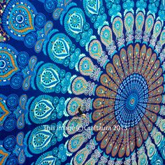 Mandala Tapestries Tapestry Wall Hanging Hippie by CraftAuraHome, $15.99