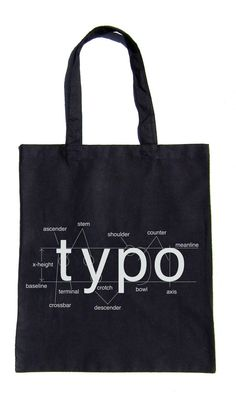 Typography Helvetica Bag Font Diagram Grocery by Iheartanalogue, $10.00    mmmyess. I am that nerdy.