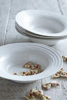 White Ceramic Bistro Bowl, Set of Two: £38.00 http://www.sophieconran.com/china/white-china-bowl-bistro-set-of-two