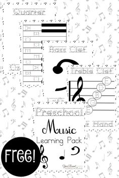 Free Preschool Music Lesson Learning Pack - Year Round Homeschooling