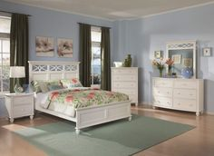 Sanibel White Wood Master Bedroom Set