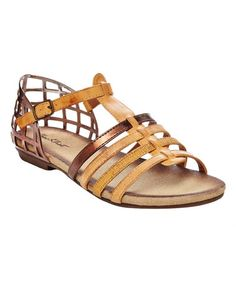 This Camel Sophia Sandal by CheckList is perfect! #zulilyfinds