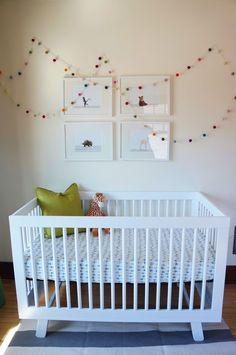 Baby Boy Green Nursery Animal Art Prints