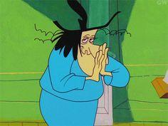 reacción de la animación de dibujos animados de brujas de Halloween