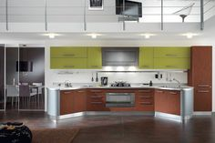 Round: a furniture project and life that reflects the style of those living in the kitchen, with endless solutions that define a modern and welcoming. http://www.spar.it/sp/it/arredamento/cucine-rou-2.3sp?cts=cucine_moderne_round