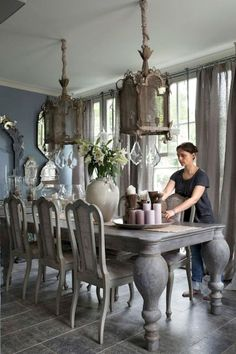 50 Incredible Fancy French Country Dining Room Design Ideas Incredible Fancy French Country Dining R Country Dining Rooms, Rustic Dining Room Table, Dining Room Design, Country Kitchen Designs, Elegant Dining Room, Dining Room Table, French Country Dining Room, Rustic Dining Room, Dining Room Furniture