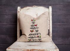 Birds in a Bird Tree Christmas Pillow Cover by larksongcreations