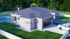 3 Bedroom House Plan - My Building Plans South Africa Round House Plans, My House Plans, Family House Plans, Village House Design, Village Houses, My Building, Building Plans, Dream Home Design, My Dream Home
