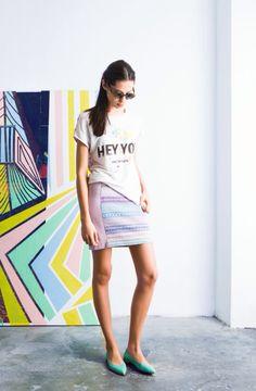 T-shirt & Sugar Skirt / Camiseta & Falda Sugar #tmx #verano #lookbook