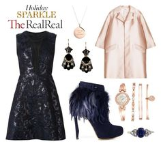 """Holiday Sparkle With The RealReal: Contest Entry"" by leiastyle ❤ liked on Polyvore featuring Yigal AzrouÃ«l, ADAM, Nicholas Kirkwood, Anne Klein, Kate Spade, women's clothing, women, female, woman and misses"
