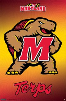 Bring your wall alive with the great Testudo! Featuring the official mascot-logo of the University of Maryland, along with the alternative script logos, this poster is a must for the wall of any fan, student or alumnus. Football University, University Of Maryland, University Logo, Loyola University, U Of Maryland, Football Prayer, I Lak, Official Nfl Football, Baltimore Ravens