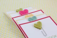 Stitched Felt Heart Bookmarks