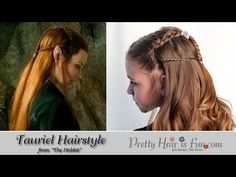 Pretty Hair is Fun: Tauriel Inspired Hairstyle–From The Hobbit; celebrity hairstyles;  hair; braids; hairstyles; updos; wedding; prom; homecoming; girls hairstyles; easy hairstyles;long hairstyles; evangeline lilly; lord of the rings; the hobbit; elvish hair; elf hair; halloween hairstyles; halloween costume ideas