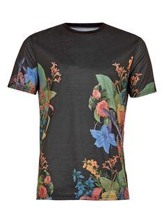 Black Lily Floral T-Shirt