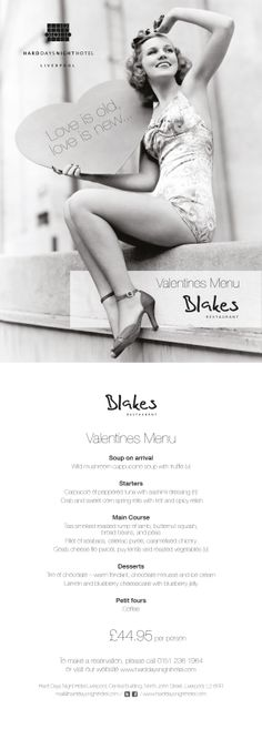 Love is Old, Love is New - All You Need Is Blakes this Valentines .