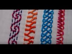 Basic Embroidery Stitches # Part-3 | Embroidery stitch for beginners https://youtu.be/mY83wGSJcT8 http://handembstitch.blogspot.com/p/embroidery-store.html These stitches for beginners. I hope this tutorial will help to new beginners to learn embroidery