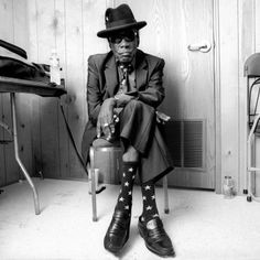 John Lee Hooker; his socks are amazing. Love this man.