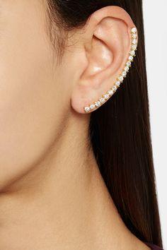 Ana Khouri Isabel 18-karat gold diamond ear cuff NET-A-PORTER.COM