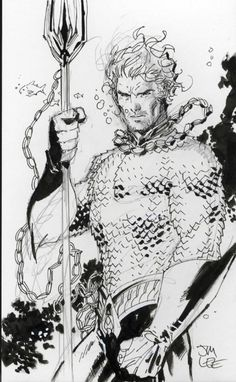 Jim Lee... you made Aquaman look almost... badass? Such Talent!