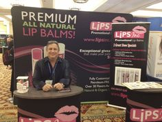 Warren in Lips Inc's Trade Show Booth