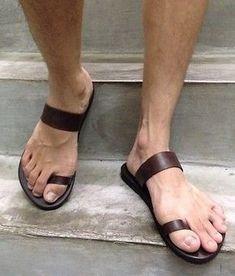 reputable site 2b2f2 17bf8 Hecho a Mano Cuero Hombres Sandalias Informales Romano Flip Multi-US Boho  Hippie Mujer Zapatos
